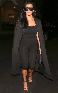 Kourtney Kardashian kept it cute at Kim Kardashian's 35th birthday party.