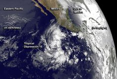 One week after the official start of hurricane season in the Eastern Pacific Ocean, the first tropical depression was born hundreds of miles southwest of Mexico. NASA's TRMM satellite and NOAA's GOES-West satellites provided looks inside and outside of the depression's clouds. Hurricane season in the Eastern Pacific began officially on May 15. 1E (Eastern Pacific Ocean)