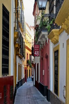 Narrow Street, Seville, Spain