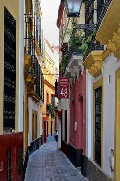 Narrow Street, Seville, Spain