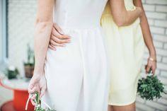 Bridesmaids custom dresses by Atelier Charlotte Auzou