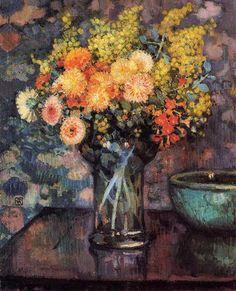 Vase of Flowers - Theo van Rysselberghe