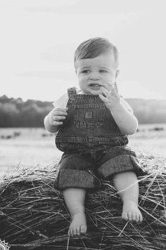 Country baby photography