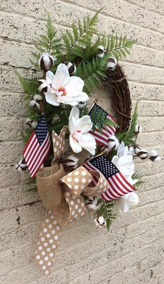 Greenery Wreath, Boxwood Wreath, Grapevine Wreath, Door Wreaths, Patriotic Wreath, 4th Of July Wreath, 4th July Crafts, Holiday Wreaths, Holiday Decor