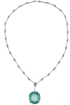 Colar Jack Vartanian, também com turmalina paraíba, ouro branco e diamantes