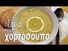 Χορτόσουπα | Vegan & Νόστιμο - YouTube Greek Recipes, Kitchen Recipes, Food And Drink, Vegan, Soups, Ethnic Recipes, Cook, Youtube, Greek Food Recipes