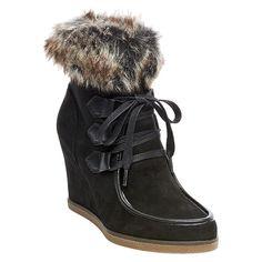 Women's Jaden Shearling Style Boots Black 7.5 - Merona