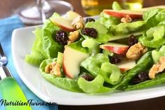 Crunchy Waldorf Salad | Only 74 Calories | Crunchy, Sweet Delicious Way To get Greens | For MORE RECIPES, Fitness & Nutrition Tips please SIGN UP for our FREE NEWSLETTER www.NutritionTwins.com