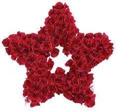Curled Wood Star Wreath