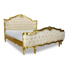 Gold Elise King Bed by Fabulous & Baroque