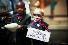 Cutest little boys ever!! Love the Ring Security sign. Rhphotoarts: Houston Wedding, Destination, Fashion Photographer