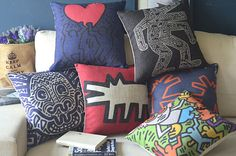 Hey, I found this really awesome Etsy listing at https://www.etsy.com/listing/204629676/sale-keith-haring-paintings-style-pillow