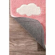 Viv + Rae Lily Cloudy Sachiko Hand-Tufted Pink Area Rug & Reviews | Wayfair Kids Area Rugs, Orange Rugs, Contemporary Area Rugs, Latex Free, Mild Soap, Online Home Decor Stores, All Modern, Rug Size, Colorful Backgrounds