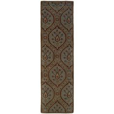 Style Haven Hand-tufted Green Wool Area Rug (2'3 x 8') (Hand-tufted 100% Wool), Blue, Size 2'3 x 8'