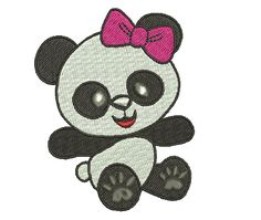 Girly panda designs one of four