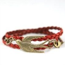 All wraps are made of genuine leather. Can be worn as a bracelet or necklace. Measures 18 inches.