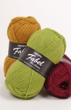 Kleurenkaart voor DROPS Fabel ~ DROPS Design sokkenwol