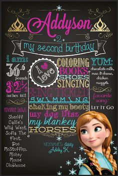FROZEN ANNA Customized Chalkboard Second by BestDayEverGraphics