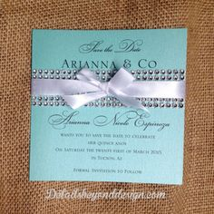 Tiffany Box Bling Save the Date on Tiffany by DetailsBeyondDesign