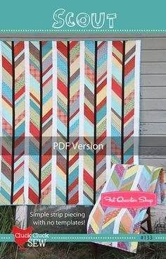 Scout Downloadable PDF Quilt Pattern Cluck Cluck Sew Quilt Patterns - Fat Quarter Shop