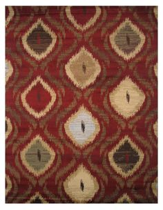 Inspiration Red Area Rug