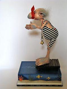 Toy Art, Clay Dolls, Art Dolls, Paperclay, Polymer Clay Art, Beatrix Potter, Miniature Dolls, Miniature Houses, Beautiful Dolls