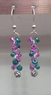 Resultado de imagen para dangly bead earrings