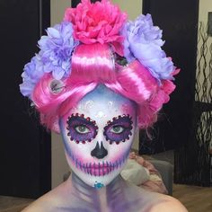 Halloween is such a fun time of year for makeup lovers and artists alike. Come see our reader's photos of their Halloween costumes and get some Halloween makeup ideas for yourself. Cool Halloween Makeup, Sexy Halloween Costumes, Halloween Looks, Halloween Dress, Halloween Cosplay, Sugar Skull Makeup, Sugar Skulls, Makeup Crafts, Dead Makeup