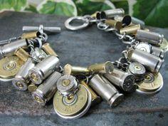 Shotgun and Bullet Casing Jewelry Mixed Nickel & by thekeyofa