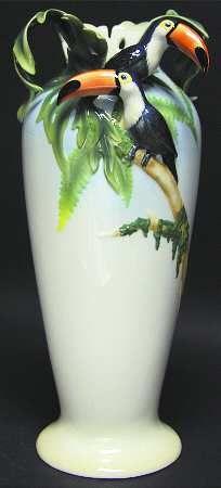 Franz Collection Paradise Calls -Toucan - Large Vase
