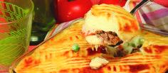 Receita de Empadão de carne estufada. Descubra como cozinhar Empadão de carne estufada de maneira prática e deliciosa com a Teleculinaria!