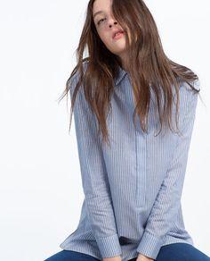 Zara TRF Striped Shirt $30