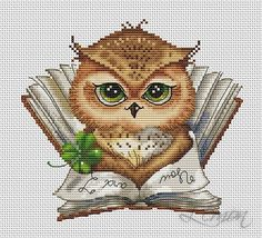 """ru / Photo # 53 - For the company """"Lena Lawson Needlearts"""" - Cross Stitch Owl, Small Cross Stitch, Cross Stitch Animals, Modern Cross Stitch, Cross Stitch Charts, Cross Stitch Designs, Cross Stitching, Cross Stitch Embroidery, Cross Stitch Patterns"""