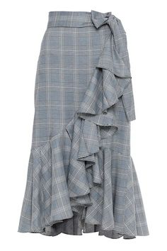 Saia Midi - Saia Midi Prince-de-Galles Polis | Amissima Casual Outfits, Casual Clothes, Couture, Ideias Fashion, Plaid, Skirts, Crochet, Dresses, Style