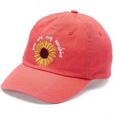 """Women's love this life """"You Are My Sunshine"""" Sunflower Baseball Cap - Piercings Time Embroidered Baseball Caps, Embroidered Hats, Plain Baseball Caps, Baseball Hats, Baseball Field, Baseball Cap Hairstyles, 70s Fashion Pictures, Baseball Uniforms, Emo Dresses"""