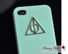 Deathly Hallows Mint Green Iphone Case Iphone 4 by MyShiningGift, $8.99 ( oh how I love this iPhone case!)