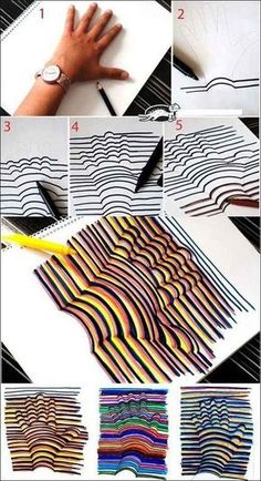Learn how to draw a Hand Illusion. Super easy and a fun craft for kids! Learn how to draw a Hand Illusion. Super easy and a fun craft for kids! Bored At Work, Projects For Kids, Class Projects, Older Kids Crafts, School Projects, Crafts For Teens To Make, Diy Crafts For 8 Year Olds, Crafts For Rainy Days, Teen Arts And Crafts