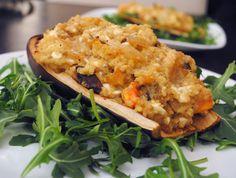 Quinoa Stuffed Eggplant Recipe