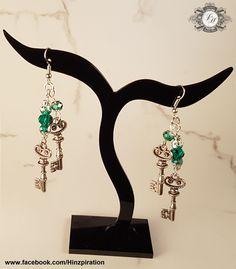 Ohrringe mit zwei Schlüsseln