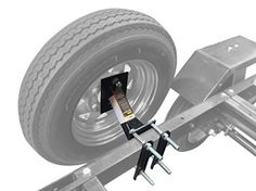 New Boat Trailer Spare Tire Mount Carrier Wheel Cargo Holder