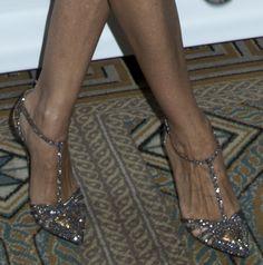 Sarah Jessica Parker Wears SJP 'Carrie' T-Strap Heels