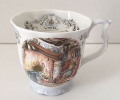 Royal Doulton WINTER BEACKER Tea Cup Bone China Coffee Mug 1983 Brambly Hedge #RoyalDoulton