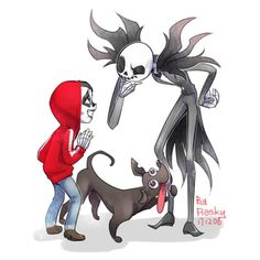 """""""Miguel and Jack, and Miguel and Jack #coco 【I like crossover so muchwq"""""""