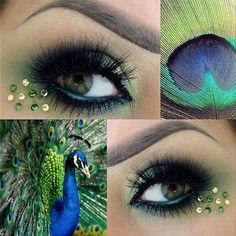 Peacock Makeup @Samantha Rowan