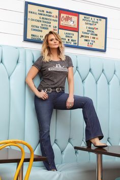 Tap to Shop the Tough Cookie Trustie Tee Miranda Lambert Photos, Western Chic, Country Music Artists, Girls Jeans, Blondes, Cookie, Fan, Trends, Writing