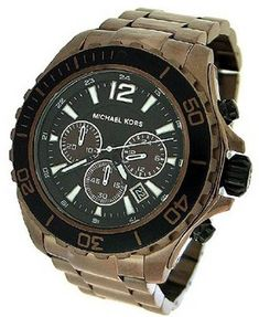 Michael Kors Chronograph 100M Mens Watch  MK8232 >>> To view further for this item, visit the image link.