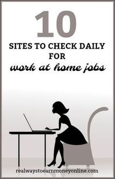 Sites to Check Daily For Work From Home Job Opportunities List of 10 reputable sites you can check daily for work at home jobs.List of 10 reputable sites you can check daily for work at home jobs. Earn Money From Home, Earn Money Online, Way To Make Money, Online Income, Earning Money, Quick Money, Money Fast, Investing Money, Online Earning