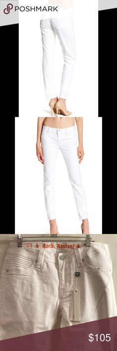"""Rock Revival white skinny jeans-size 31-NWT Brand new Rock Revival skinny jeans size 31-white janeil-inseam 32"""". New with tags Rock Revival Jeans Skinny"""