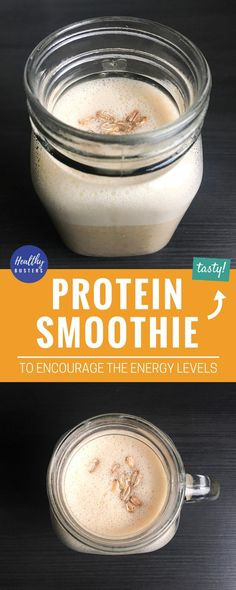 Protein smoothie to encourage the energy levels