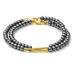 "Bracelet with hematite ""TOXY"" - Armband mit Hämatit"